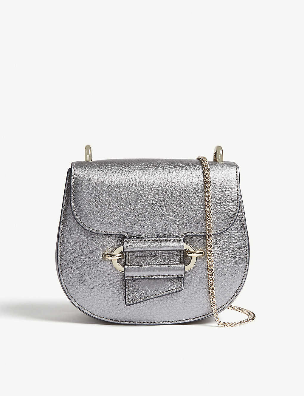 90ac199502d2 REISS - Maltby mini metallic leather cross-body bag
