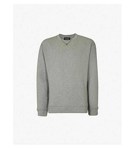 Skull Necklace Cotton Jersey Sweatshirt by The Kooples