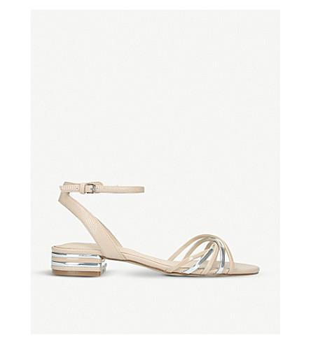 735761167a501b ALDO - Legaecia metallic-striped patent sandals