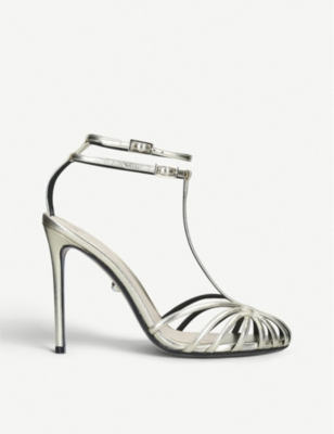 ALEVI MILANO Stella metallic leather sandals