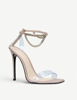 ALEVI MILANO Valentina chain-detail leather and plexy sandals