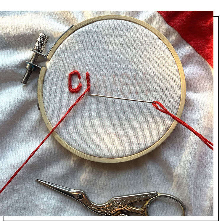 embroidery upcycling