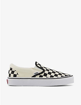 VANS: Classic checkerboard canvas slip-on trainers