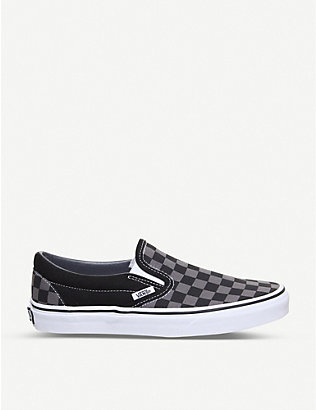 VANS: Classic checkered canvas trainers