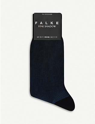 FALKE: Fine Shadow cotton-blend socks