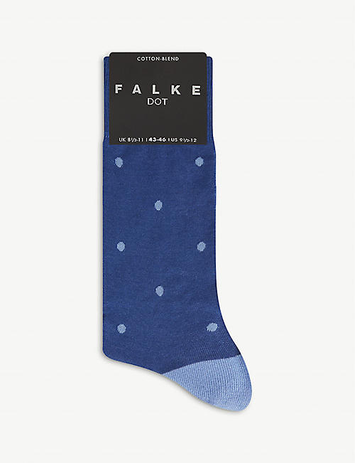 FALKE: Dot cotton-blend socks