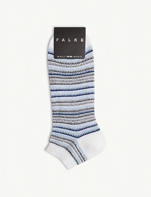 FALKE Multi-stripe cotton-blend trainer socks