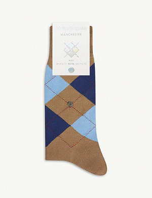 BURLINGTON Manchester cotton-blend socks