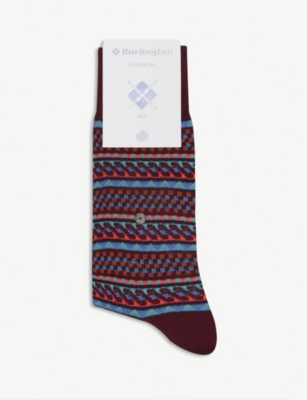 BURLINGTON Graphic cotton socks