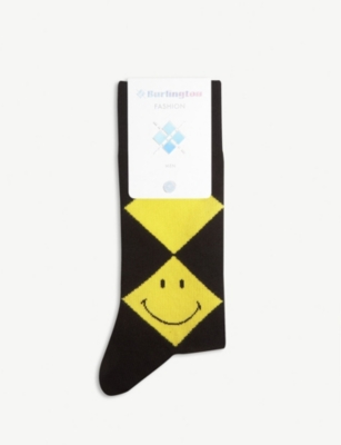 BURLINGTON Smiley argyle print socks