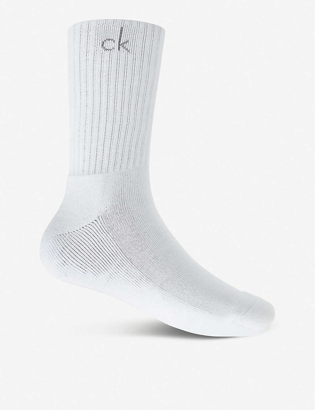 CALVIN KLEIN: Pack of three athletic ribbed socks