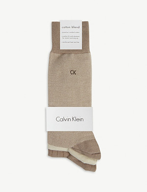 CALVIN KLEIN Combed cotton socks set of three