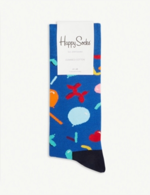 HAPPY SOCKS Balloon animal cotton-blend socks