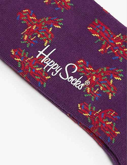 HAPPY SOCKS Cactus cotton-blend socks