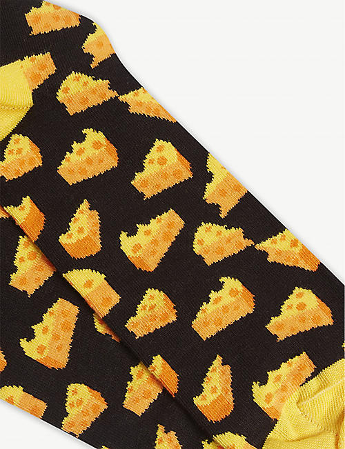 HAPPY SOCKS Cheese print socks