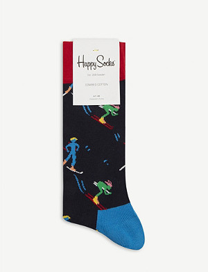 HAPPY SOCKS Skier pattern cotton-blend socks