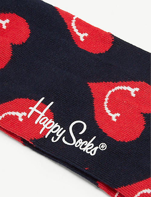 HAPPY SOCKS Smiling heart combed cotton socks