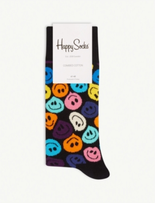 HAPPY SOCKS Smiley face cotton-blend socks