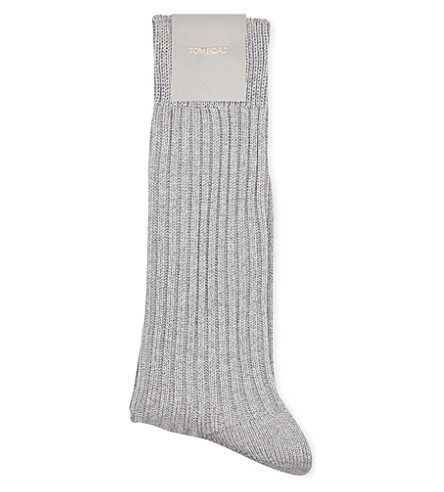 Tom Ford  Rbeed cotton socks