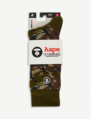 AAPE Camo-print cotton socks