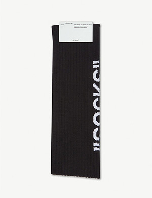 OFF-WHITE C/O VIRGIL ABLOH Loog-intarsia cotton-blend socks