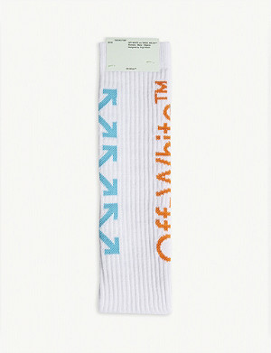 OFF-WHITE C/O VIRGIL ABLOH Arrow print cotton-blend socks