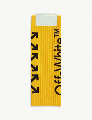 OFF-WHITE C/O VIRGIL ABLOH Arrow logo cotton-blend socks