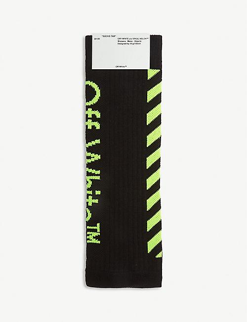 4340e5f41e22 OFF-WHITE C O VIRGIL ABLOH - Diagonal stripe logo socks