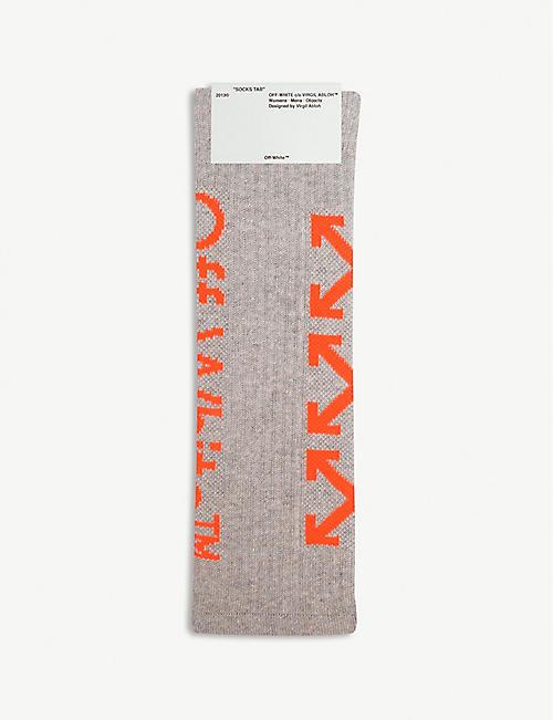 8393f1ed1048 OFF-WHITE C O VIRGIL ABLOH Arrow print cotton-blend socks