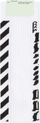 1fd3fa36876c OFF-WHITE C O VIRGIL ABLOH - Diagonal stripe cotton-blend socks ...
