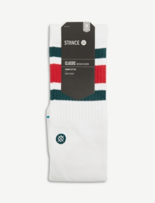 STANCE Classic Crew Solid Stripe combed cotton socks