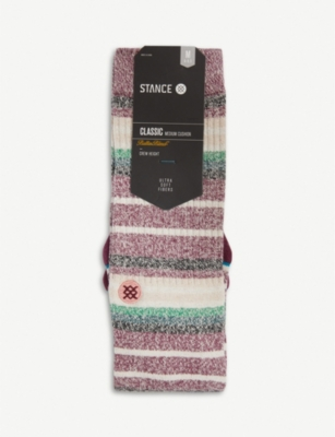 STANCE Thirri striped combed-cotton socks