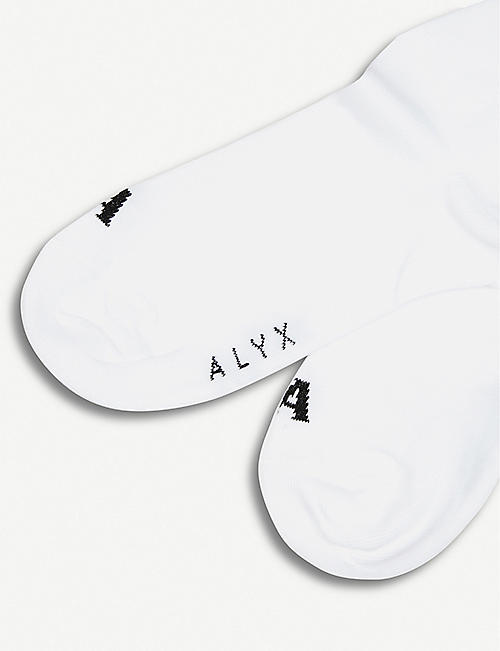 1017 ALYX 9SM Triple floral-embroidered cotton-blend socks