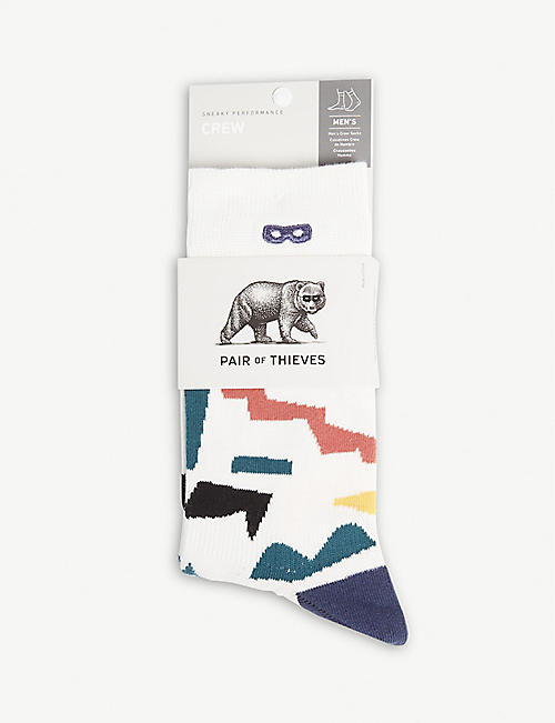 PAIR OF THIEVES Cotton-blend crew socks