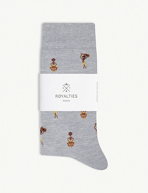 ROYALTIES Hula dancer socks