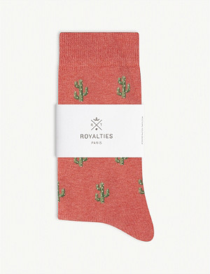 ROYALTIES Cactus print cotton-blend socks