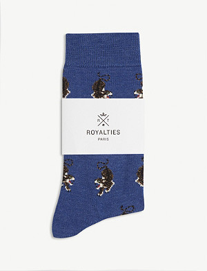 ROYALTIES Tiger print cotton-blend socks