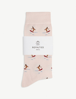 ROYALTIES Surfer print cotton-blend socks