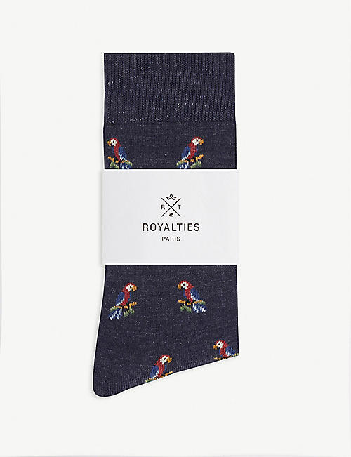 ROYALTIES Parrot cotton-blend socks