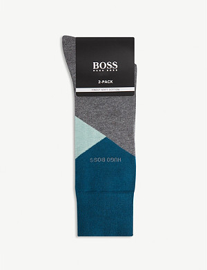 BOSS Colour-block ankle socks