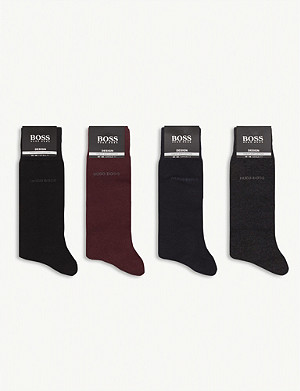 BOSS Cotton-blend socks gift set of four