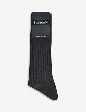PANTHERELLA Short ribbed cotton socks