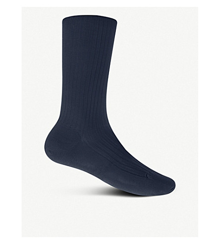 PANTHERELLA Cottons Short ribbed cotton socks