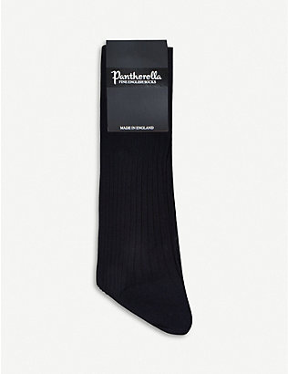 PANTHERELLA: Short ribbed cotton socks