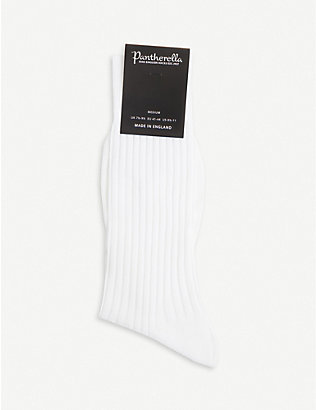 PANTHERELLA: Ribbed cotton-blend socks