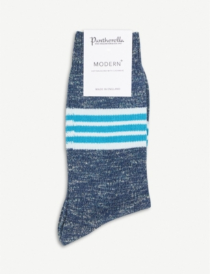 PANTHERELLA Foster striped cotton-blend socks