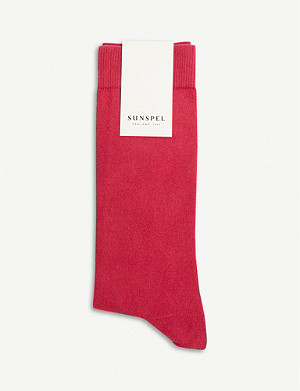 SUNSPEL Long tonal cotton-blend socks