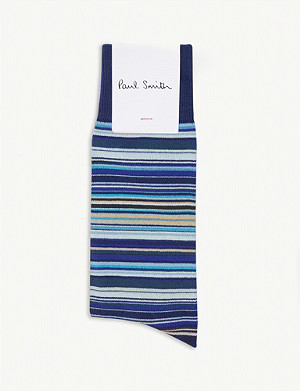 PAUL SMITH Skinny stripe socks