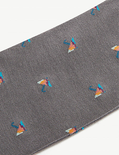 PAUL SMITH Umbrella print cotton-blend socks