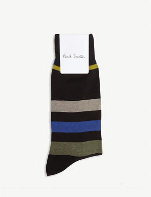 PAUL SMITH Wide stripe cotton-blend socks